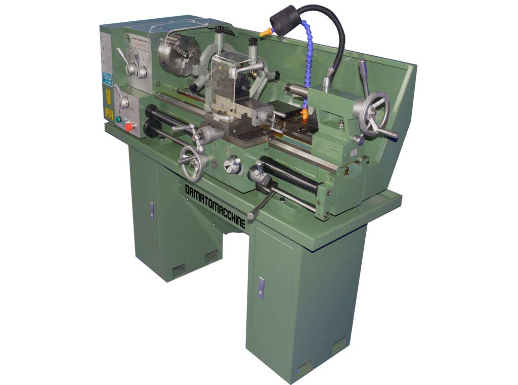 Metal Lathe with distance between centers of 800 mm, water cooling pump, max swing over bed 330 mm and single-phase motor 1500 W