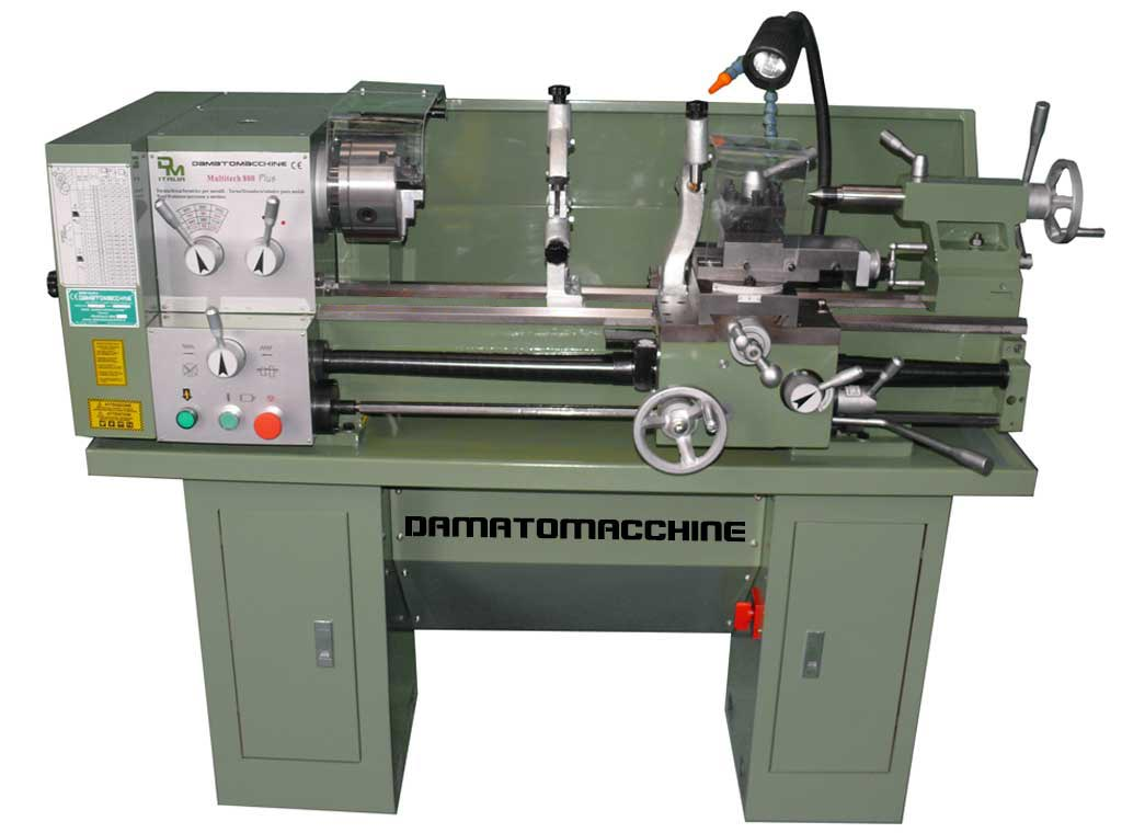 Tornio semi professionale multitech 800 plus di for Costruire un tornio per metalli