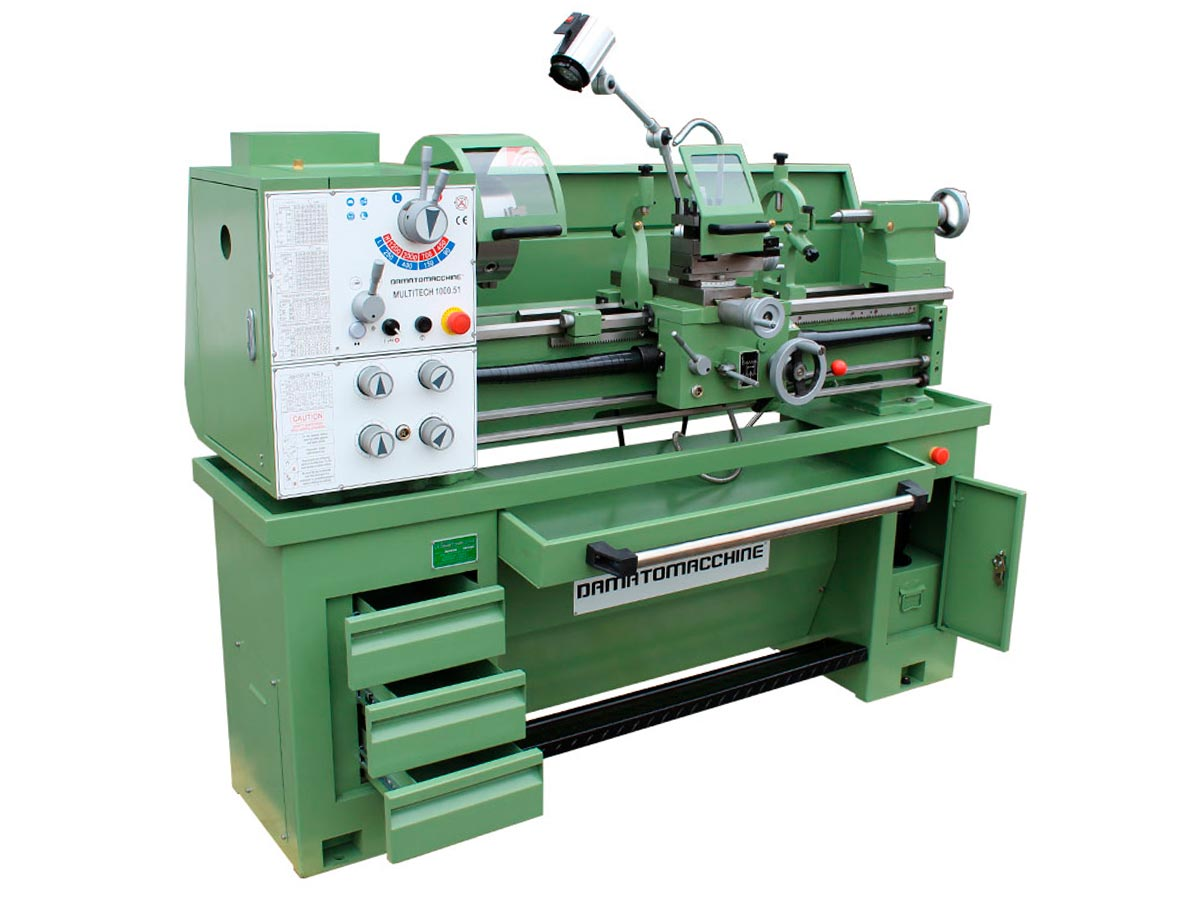 Professional Bench lathe with distance between the centers of 1000 mm