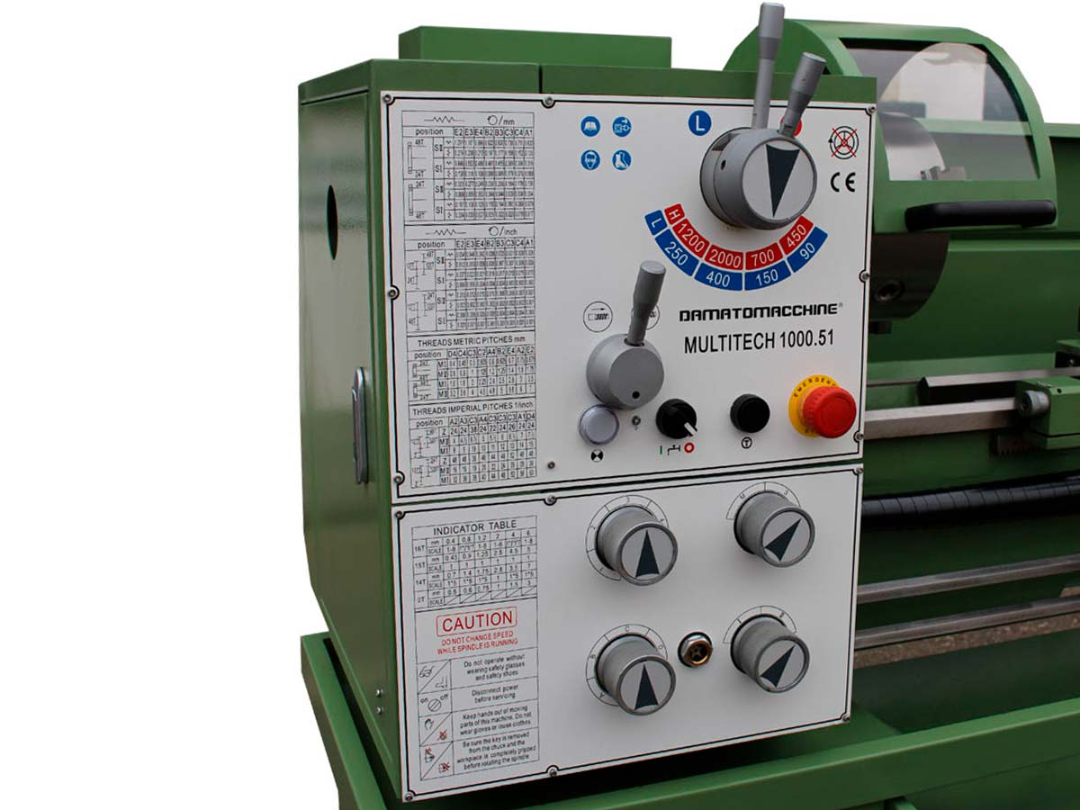 Tornio professionale per Metalli Multitech 1000.51 di Damatomacchine