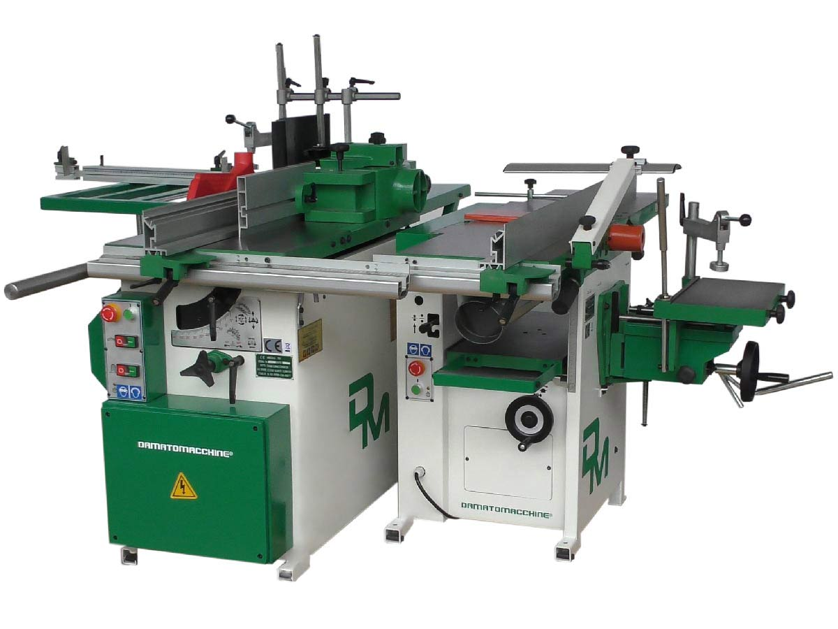 Split combination machine Mitica Standard: two separated woodworking machine multifunction powered by Damatomacchine