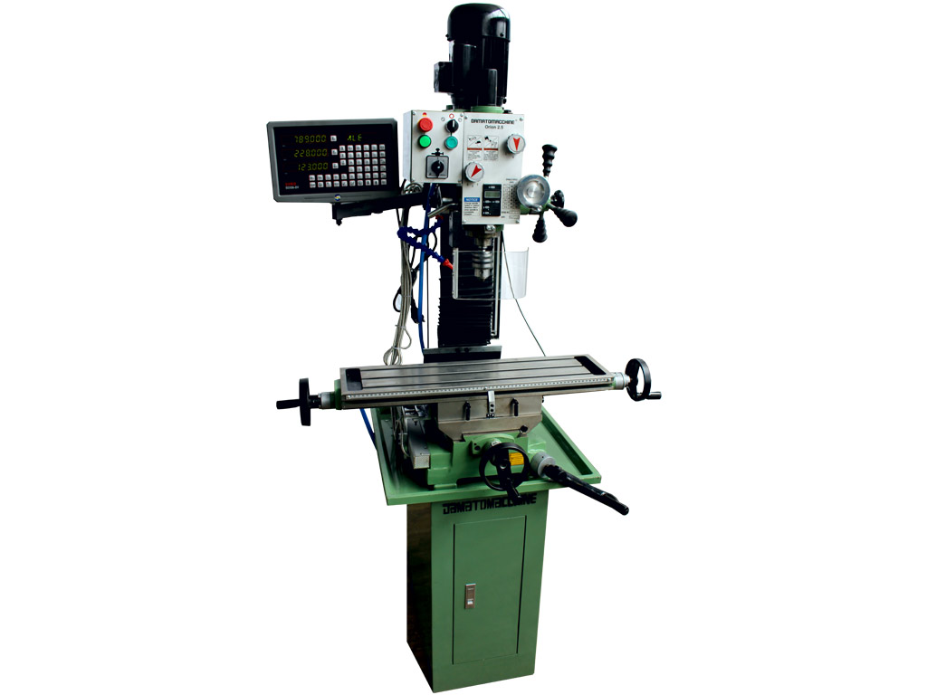 Metalworking Milling Machine with DRO Orion 2.5 Digit by Damatomacchine
