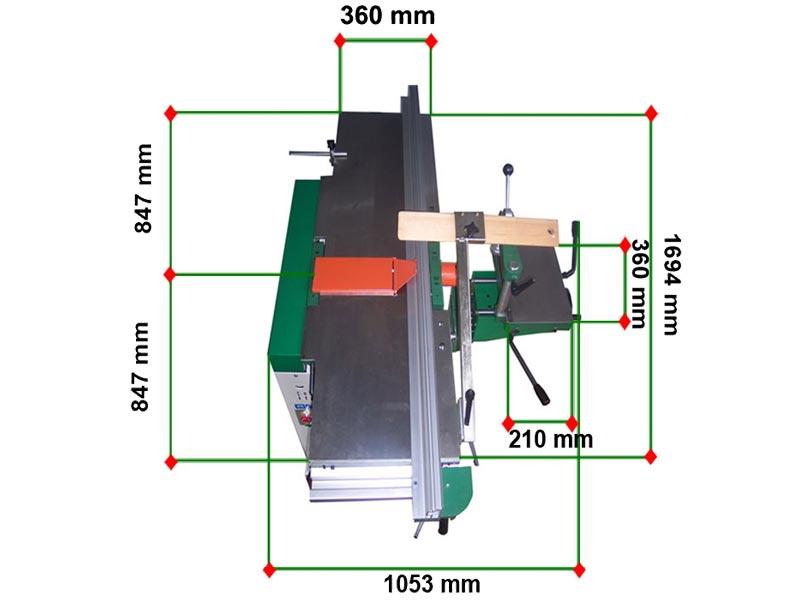 Pialla per lavorare il legno con piani in ghisa ribaltabili  da 360 mm di larghezza modello FSC 360 di Damatomacchine