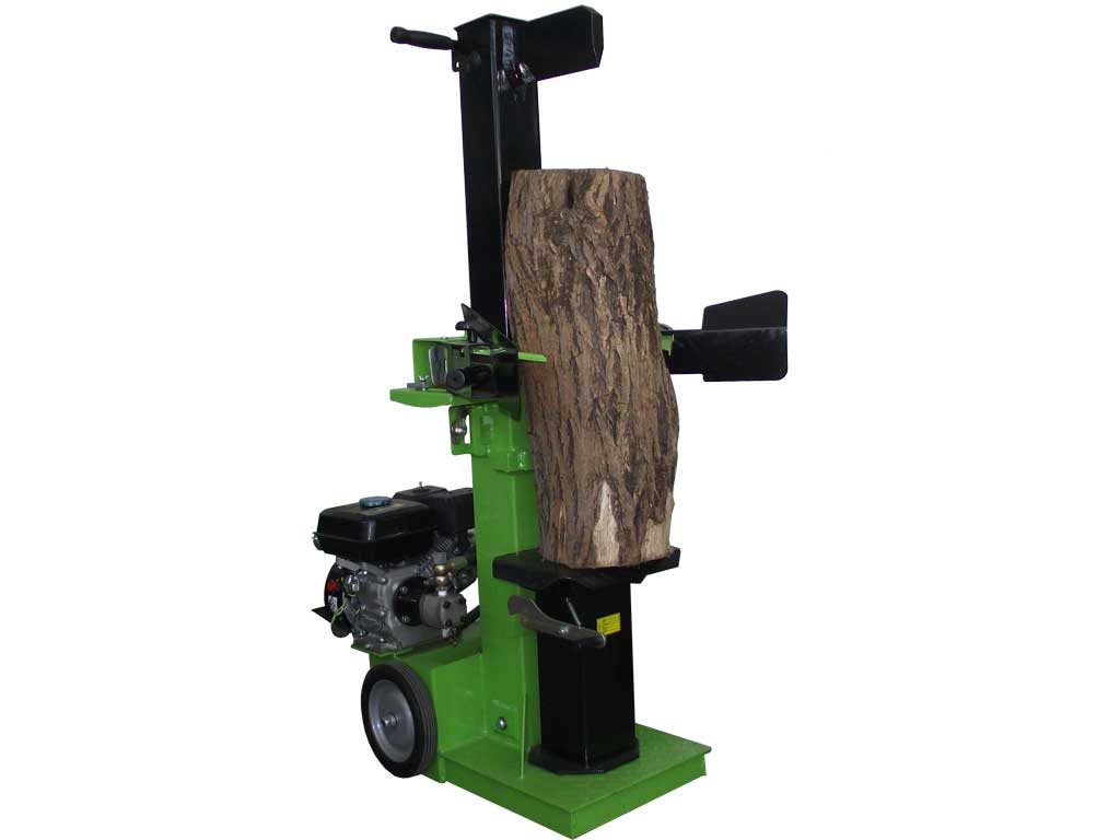 Hydraulic log splitter with a power of 10 tons powered by a combustion engine from 6 , 5 horses . Ideal to chop wood to burn independently and effortlessly