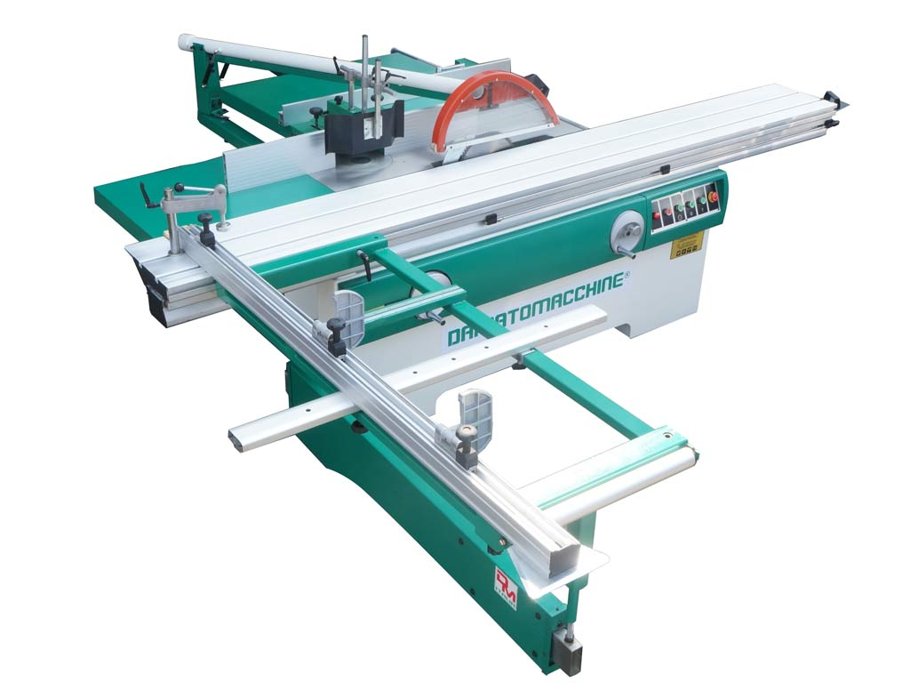 Professional table saw with circular blade Ø 355 mm, engraver with variable speed and independent motor, spindle moulder