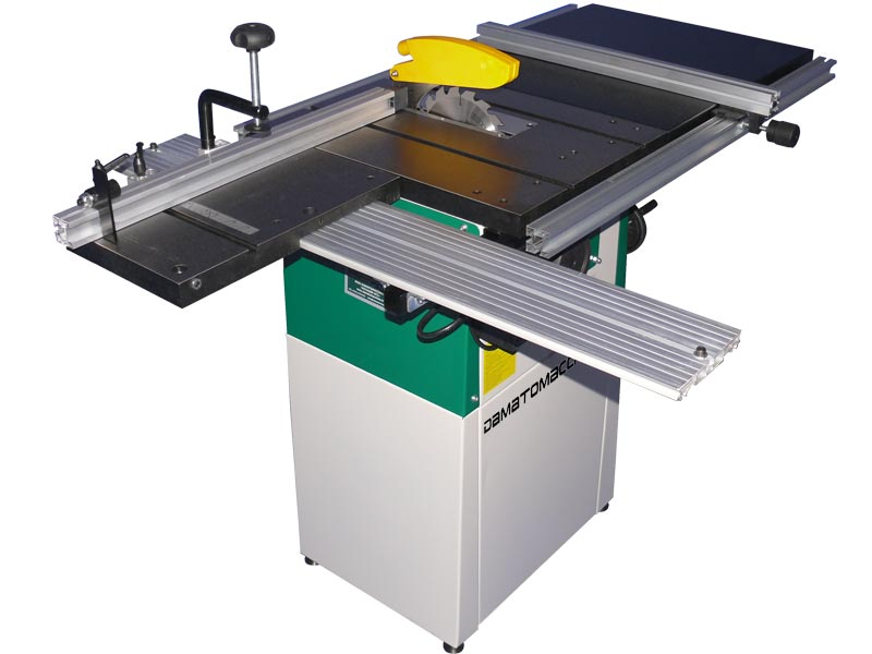 Woodworking table saw Voyager SC1 by Damatomacchine with circular saw Ø 200 mm, shaft speed of 4700 rpm,