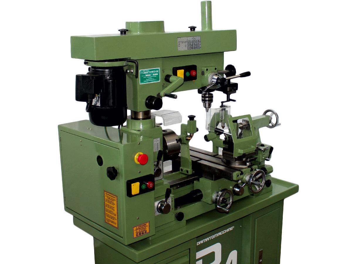 combiné tour-fraiseuse-perceuse à metaux avec distance entre-pointes de 500 mm model Master 520.3L de Damatomacchine