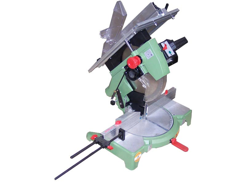 Mitre saws with 300 mm circular blade powered by a powerful single phase motor 1100 W.