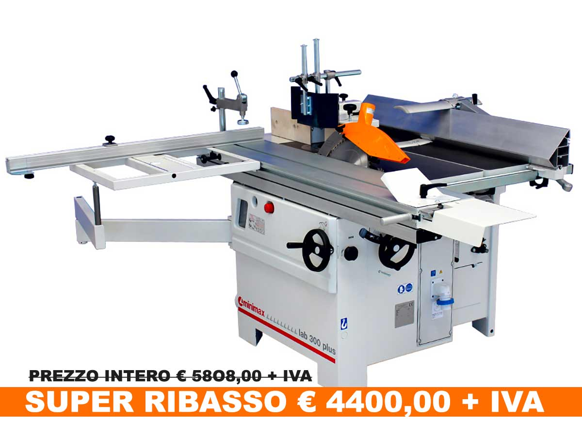 Combinata per legno Lab 300 Plus mono Ce
