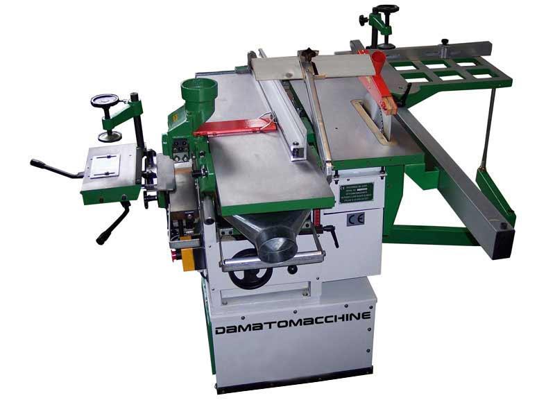 Machine à bois 5 operations avec dégauchisseuse raboteuse de 260 mm modelle Disco 5 Super de damatomacchine