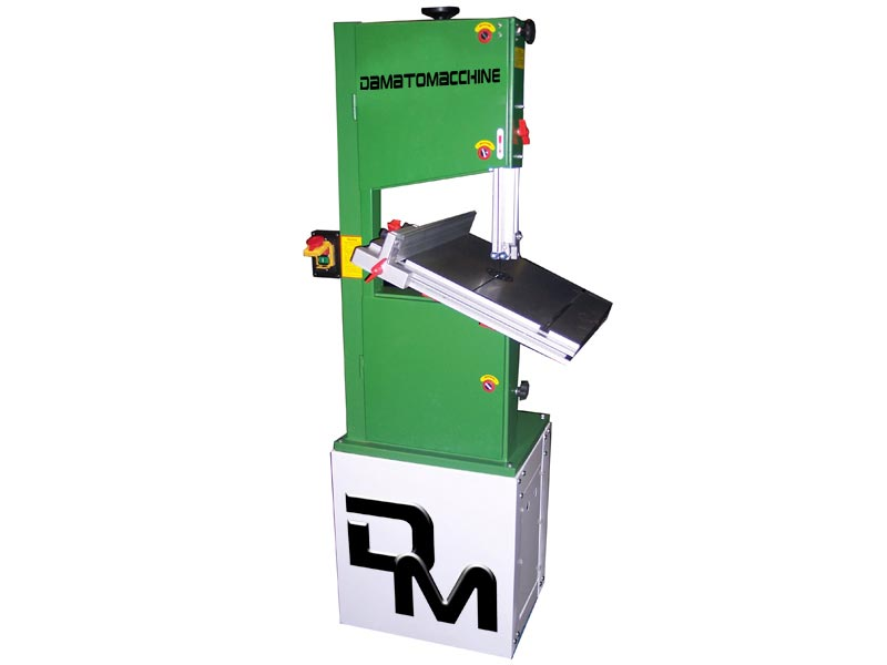 Wood cutting bandsaw machine TOP 32 model powered by Damatomacchine