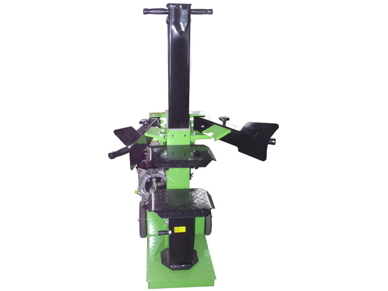 Hydraulic log splitter of the vertical type with a power of 12 tons powered by a combustion engine from 9 horses . Ideal for chopping wood independently and effortlessly