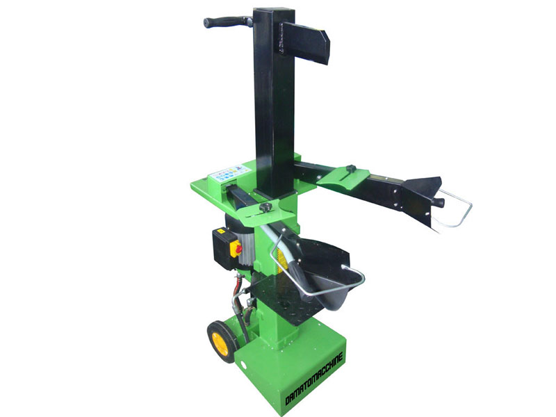 Vertical hydraulic log splitter with power 6 ton and powered by an electric motor 2.2 kW