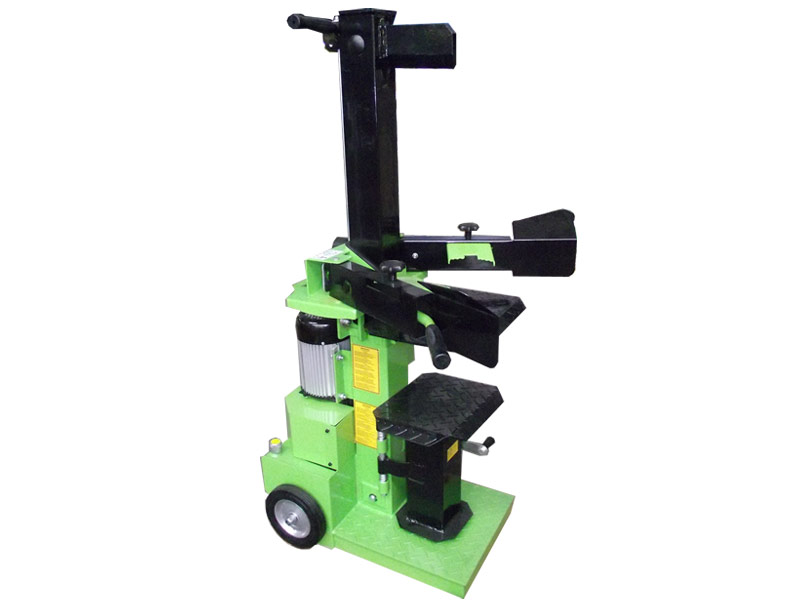 Vertical hydraulic log splitter with power 8 ton and powered by an electric single phase motor 2.2 kW