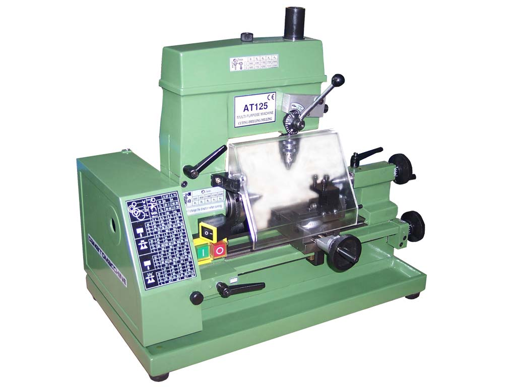 mini lathe with milling and drilling function model master 125 by Damatomacchine