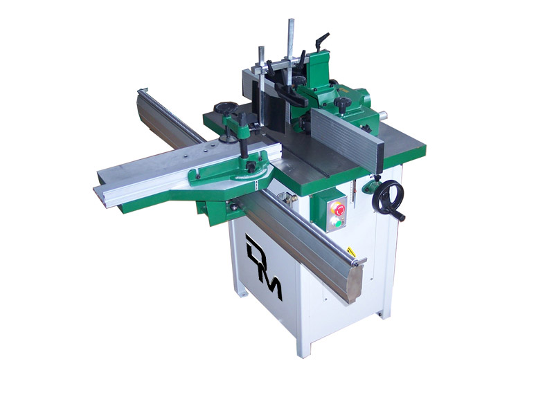 Woodworking spindle moulder with tilt spindle
