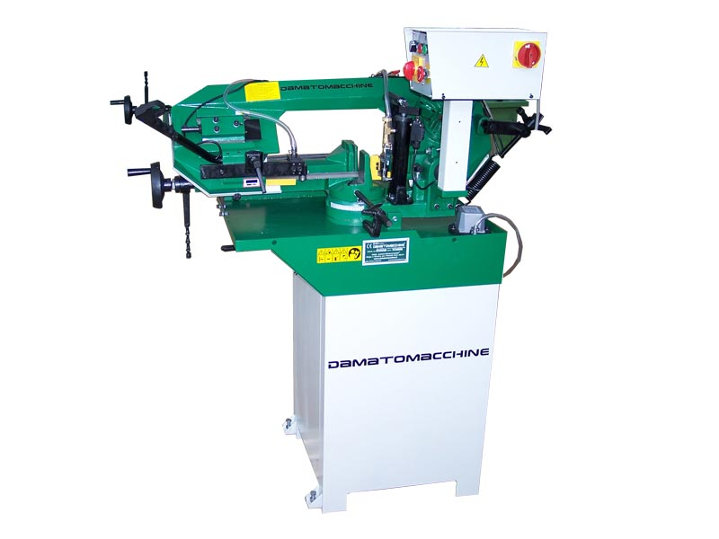 Professional metal bandsaw with motor threephase 750 W GEO 4017 by damatomacchine