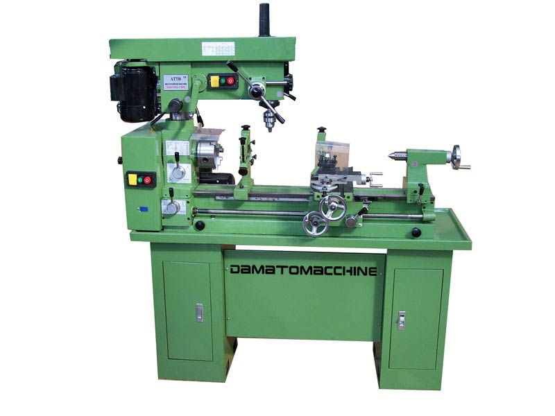 Combo Metalworking lathe-milling machine with two indipendet motors model Master 750 by Damatomacchine